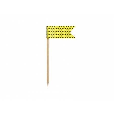 Petits drapeaux Cupcake Toppers Abeille mélanger 7cm