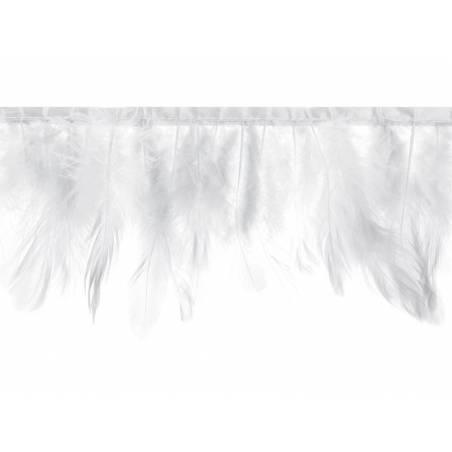 Guirlande de plumes blanche longueur 1m