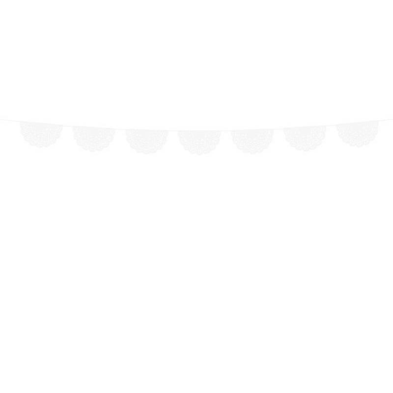 Napperon guirlande blanc 183 m