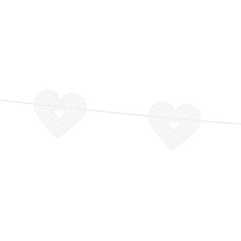 Garland Hearts blanc 18 m