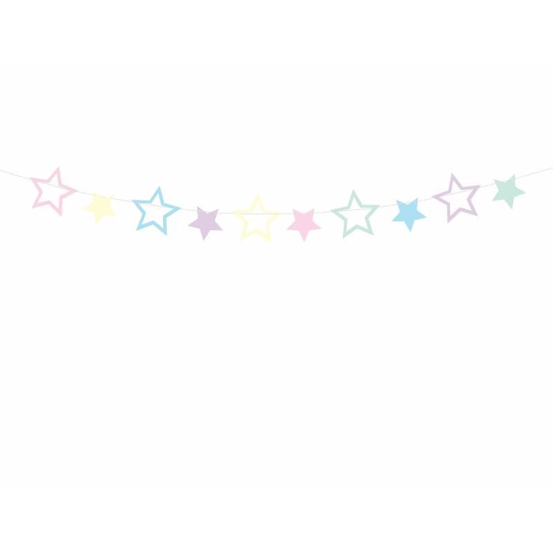 Guirlande de Licorne - Étoiles 14 m