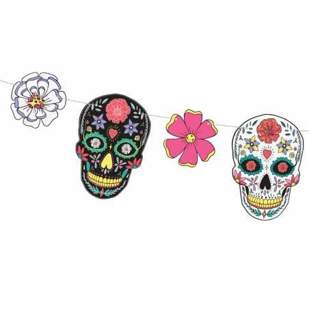 Guirlande Dia de Los Muertos - Masques 1.2m