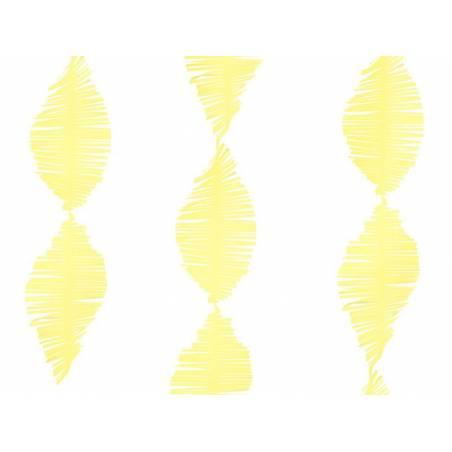 Guirlande à franges en papier crépon jaune 3m
