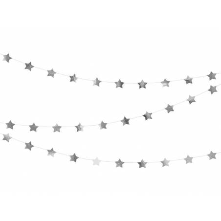 Guirlande Etoiles argent 3.6m