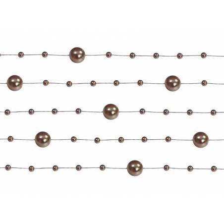 Guirlandes de perles marron 13 m