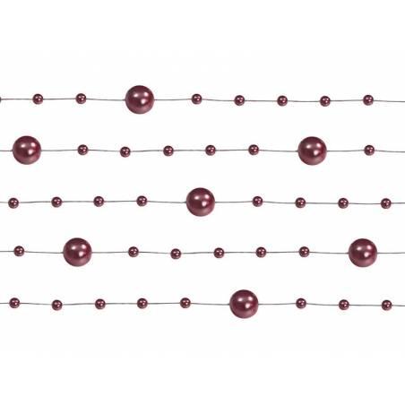 Guirlandes de perles rouge profond 13 m