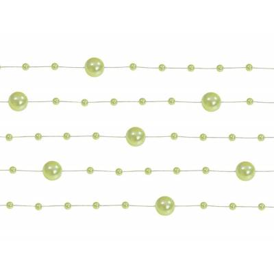Guirlandes de perles vert clair 13 m