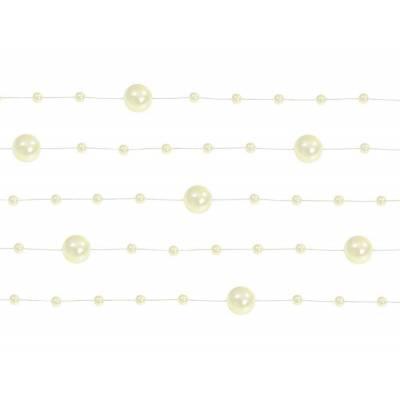 Guirlandes de perles crème 13 m
