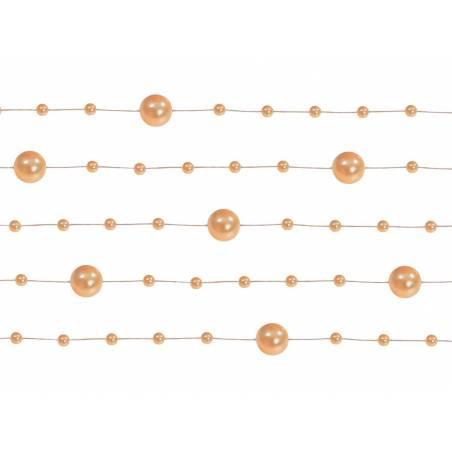 Guirlandes de perles orange 13 m
