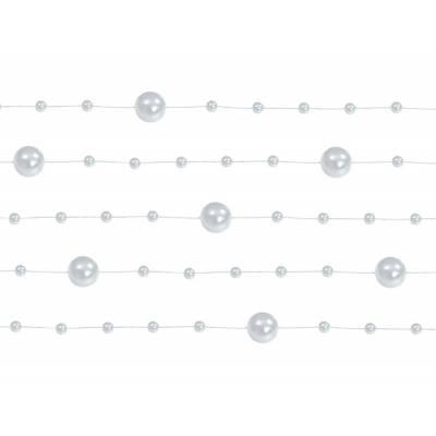 Guirlandes de perles argent 13 m