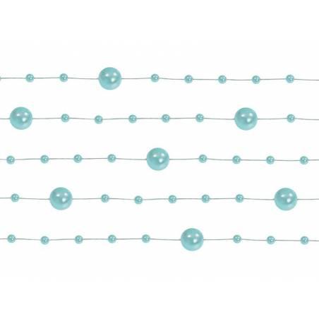 Guirlandes de perles menthe 13 m