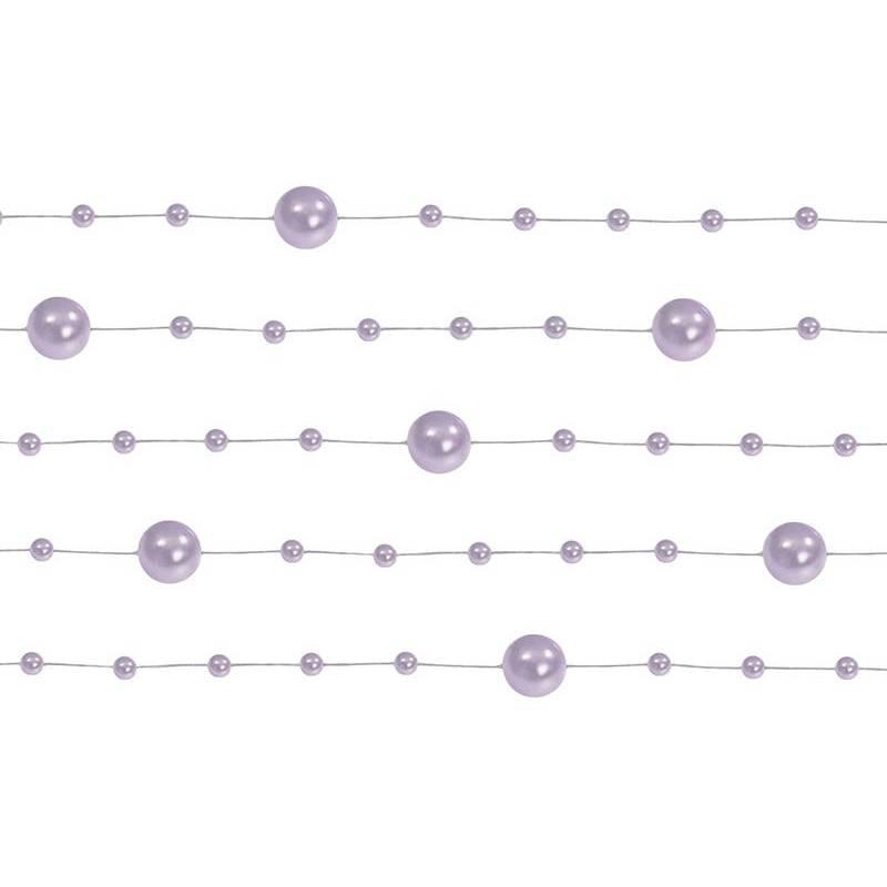 Guirlandes de perles lilas 13 m