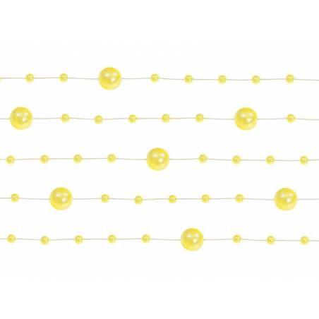 Guirlandes de perles jaune 13 m