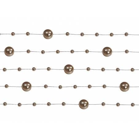 Guirlandes de perles cappuccino 13 m