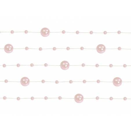 Guirlandes de perles rose pâle 13 m