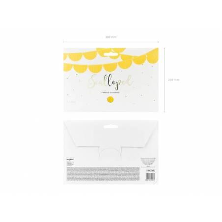Guirlande à franges festonnées jaune 3m
