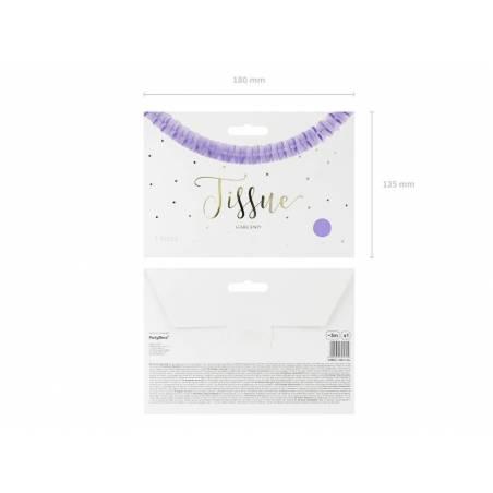 Guirlande de tissu lilas 3m