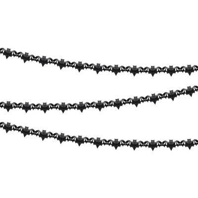 Guirlande de tissu Chauves-souris noir 4m