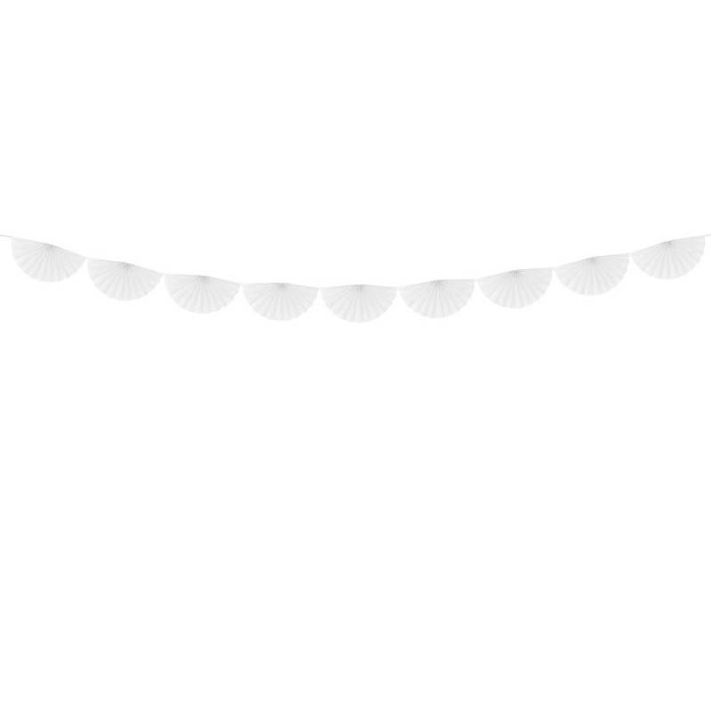 Guirlande de tissus Rosettes blanc 3m