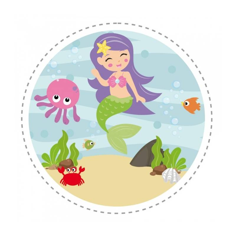 40 Minis Stickers Sirène