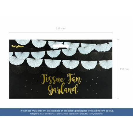 Guirlande de tissus Rosettes lavande 3m