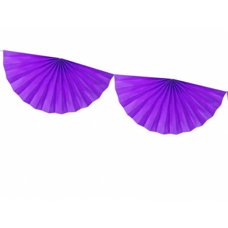 Guirlande de tissus Rosettes violet 3m