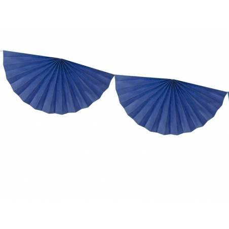 Guirlande de tissus Rosettes bleu marine 3m