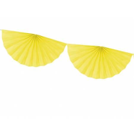 Guirlande de tissus Rosettes jaune 3m