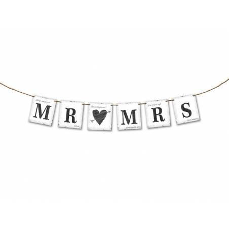 Bannière MR MRS 77cm