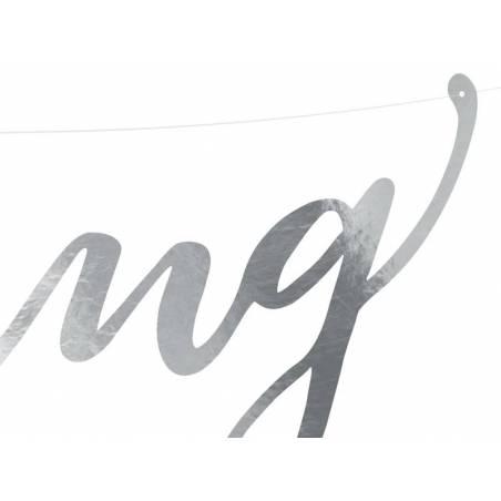Bannière Mariage argent 16.5x45cm