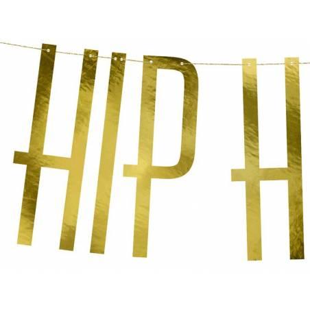Bannière Hip Hip Hourra or 15x120cm 1 pièce