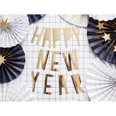 Bannière Bonne année or 10 x 90 cm