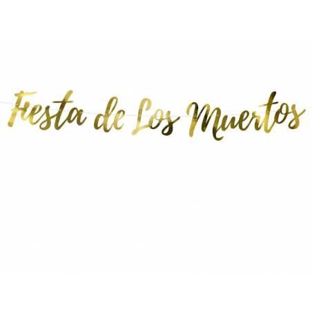 Bannière Dia de Los Muertos - Fiesta de Los Muertos or 22x160cm