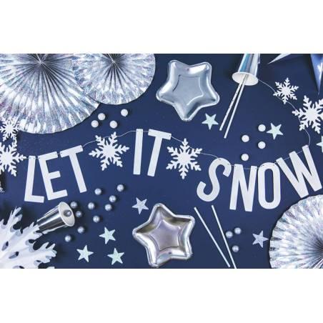 Bannière Let it snow blanc 13x170cm