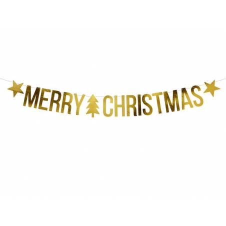 Bannière Joyeux Noël or 10.5x150cm