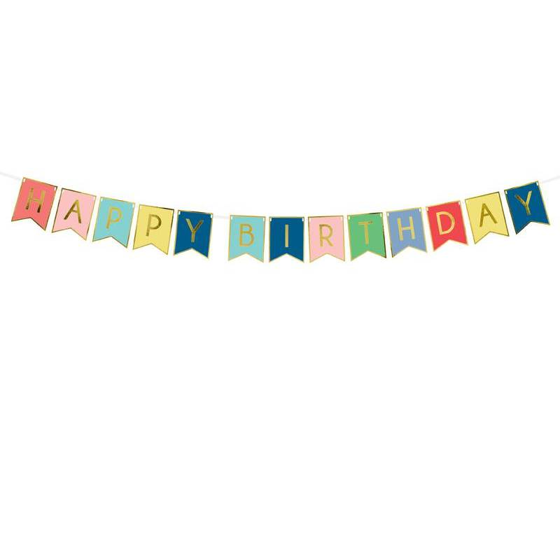 Bannière Joyeux anniversaire mélanger 15 x 175 cm