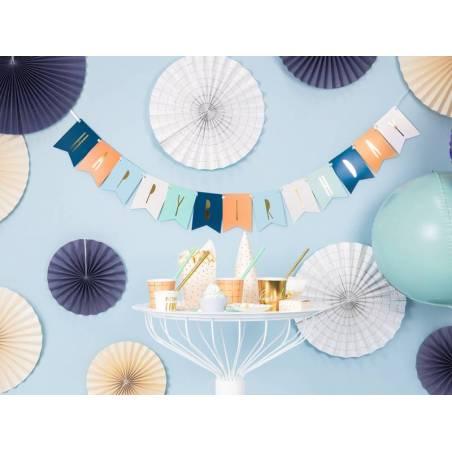Bannière Joyeux anniversaire mélanger 115 x 140 cm