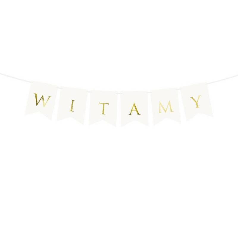 Bannière Witamy blanche 15 x 80 cm