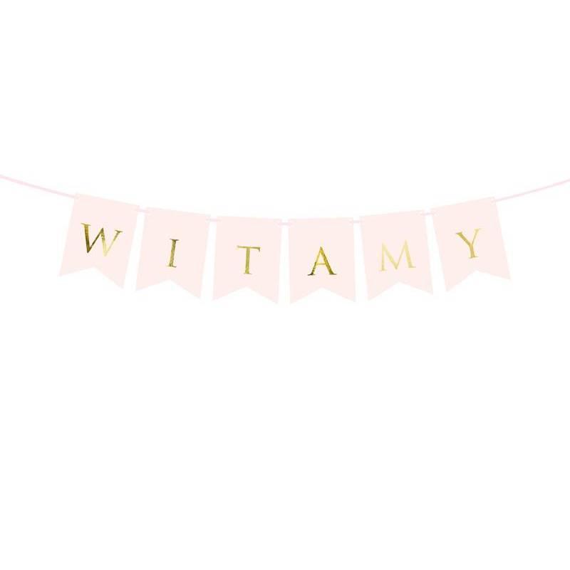 Bannière Witamy rose clair 15 x 80 cm