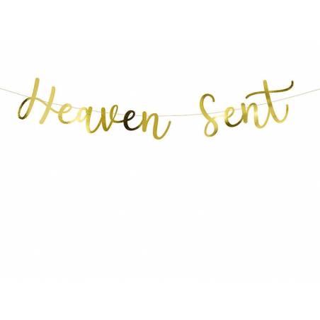 Bannière Heaven Sent or 14.5x85cm