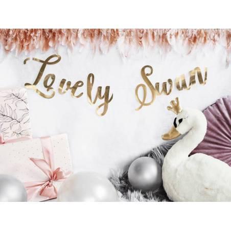 Bannière Lovely Swan miroir doré 64x21.3cm