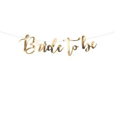 Bannière Bride to be or 80x19cm