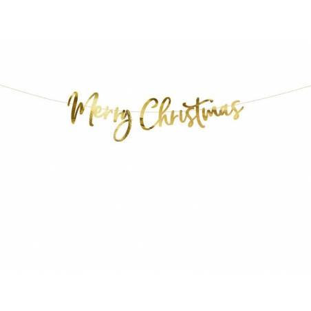 Bannière Joyeux Noël or 83x21.5cm