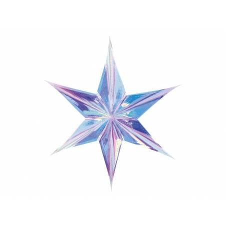 Feuille étoile 40cm irisé