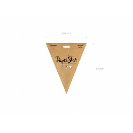 Etoile en papier 30cm argent