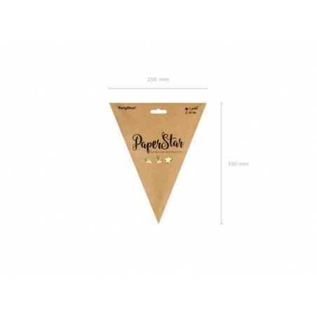 Etoile en papier 30cm doré