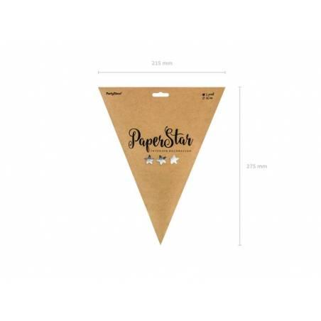 Etoile en papier 45cm argent