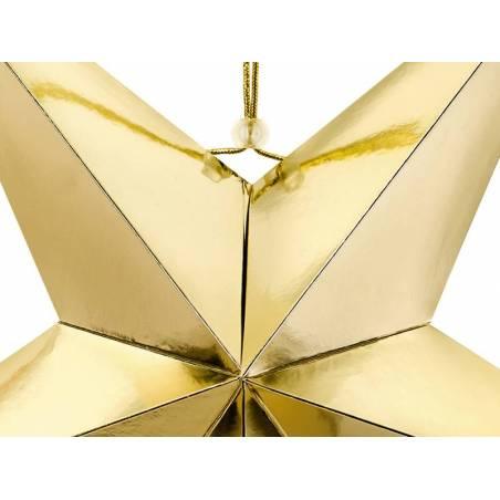 Etoile en papier 70cm doré