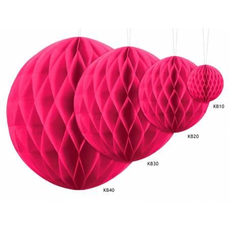 Balle en nid d'abeille rose foncé 10cm
