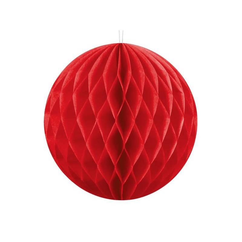 Balle en nid d'abeille rouge 10cm